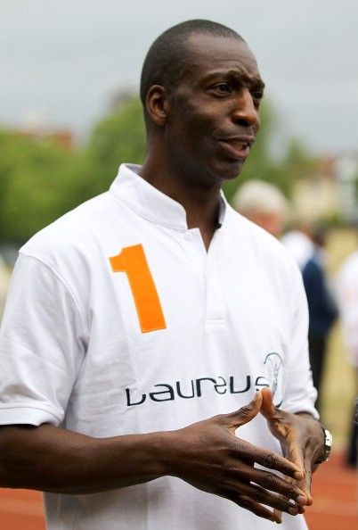 Laureus World Sports Academy MemberAmerican sprint star Michael Johnson pictured during the launch of a new partnership between the Laureus Sport for Good Foundation and Track Academy at Willesden Sports Centre on May 23, 2011 in London, England. Connie Henry, who won a Commonwealth Games Bronze medal in Kuala Lumpur in 1998, founded Track Academy in 2007.