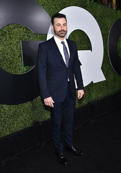 Caption:LOS ANGELES, CA - DECEMBER 03: Comedian Jimmy Kimmel attends the GQ 20th Anniversary Men Of The Year Party at Chateau Marmont on December 3, 2015 in Los Angeles, California. (Photo by Mike Windle/Getty Images for GQ Magazine)