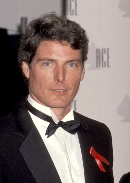Christopher Reeve during The 13th Annual Cable ACE Awards at Pantages Theater in Hollywood, California, United States.