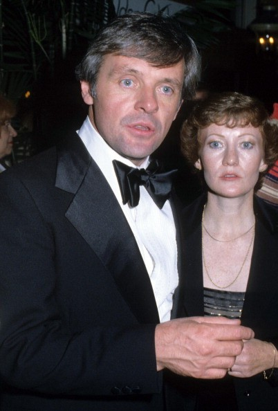 Anthony Hopkins with his wife during Anthony Hopkins Sighting - January 6, 1979 in Los Angeles, United States.