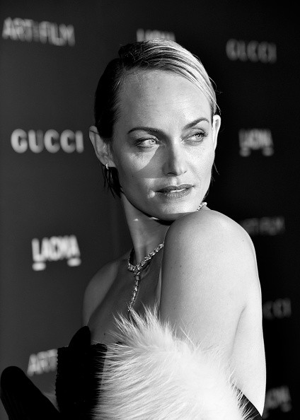 Caption:LOS ANGELES, CA - NOVEMBER 07: (EDITORS NOTE: Image has been converted to black and white.) Model Amber Valletta attends LACMA 2015 Art+Film Gala Honoring James Turrell and Alejandro G Inarritu, Presented by Gucci at LACMA on November 7, 2015 in Los Angeles, California. (Photo by Mike Windle/Getty Images for LACMA)
