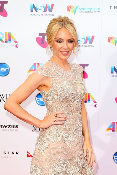 Caption:SYDNEY, AUSTRALIA - NOVEMBER 26: Kylie Minogue arrives for the 29th Annual ARIA Awards 2015 at The Star on November 26, 2015 in Sydney, Australia. (Photo by Graham Denholm/Getty Images)
