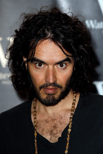 Caption:LONDON, UNITED KINGDOM - DECEMBER 5: Russell Brand pictured during a Book Signing for 'Revolution' at Waterstone's, Picadilly on December 5, 2014 in London, England. (Photo by Alex Huckle/Getty Images)