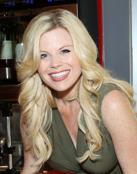 Caption:NEW YORK, NY - JUNE 07: Megan Hilty takes a break from rehearsals for her Cafe Carlyle concert series to celebrate Steak 'n Shake's 80th birthday with one of their limited-edition Birthday Cake milk shakes on June 7, 2014 in New York City. (Photo by Monica Schipper/Getty Images)