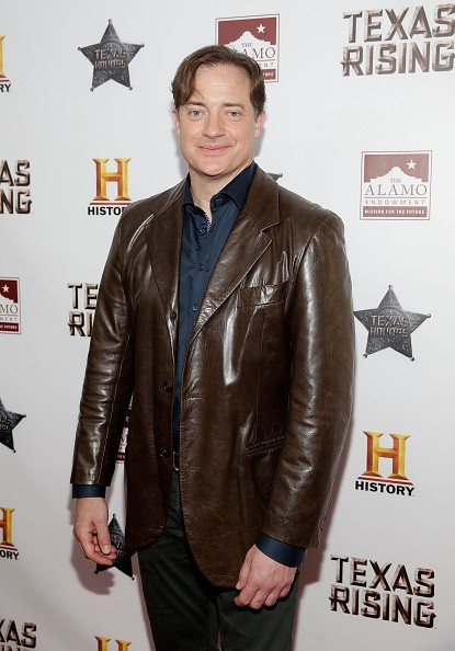 Caption:SAN ANTONIO, TX - MAY 18: Brendan Fraser arrives at the 'Texas Honors' event to celebrate the epic new HISTORY miniseries 'Texas Rising' at the Alamo on May 18, 2015 in San Antonio, Texas. (Photo by Isaac Brekken/Getty Images for HISTORY)