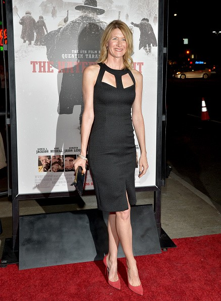 Caption:HOLLYWOOD, CA - DECEMBER 07: Actress Laura Dern attends the world premiere of 'The Hateful Eight' presented by The Weinstein Company at ArcLight Cinemas Cinerama Dome on December 7, 2015 in Hollywood, California. (Photo by Charley Gallay/Getty Images for The Weinstein Co)