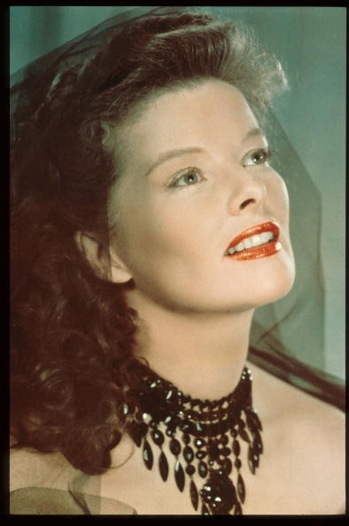 Caption:383124 01: Actress Katharine Hepburn Sits In USA. Hepburn Received Four Oscars For Best Actress In The Span Of A Sixty Year Career. (Photo By Getty Images)