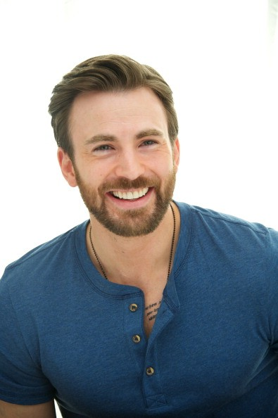 Chris Evans at the 'Captain America: The Winter Soldier' Press Conference at the Four Seasons Hotel on March 11, 2014 in Beverly Hills City.