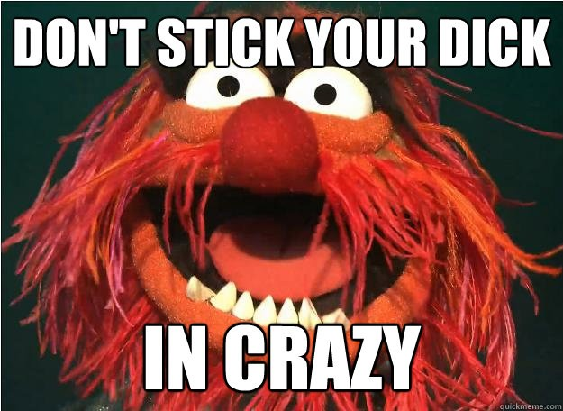 DON'T STICK YOUR DICK IN CRAZY