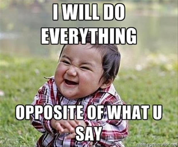 I will do everything opposite of what u say