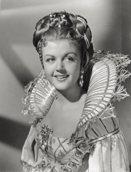 The British-born American actress Angela Lansbury acting in 'The Three Musketeers'. USA, 1948