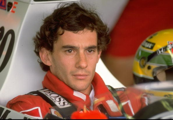 Portrait of Ayrton Senna of Brazil in his McLaren Honda before the Hungarian Grand Prix at the Hungaroring circuit in Budapest, Hungary. Senna finished in second place.
