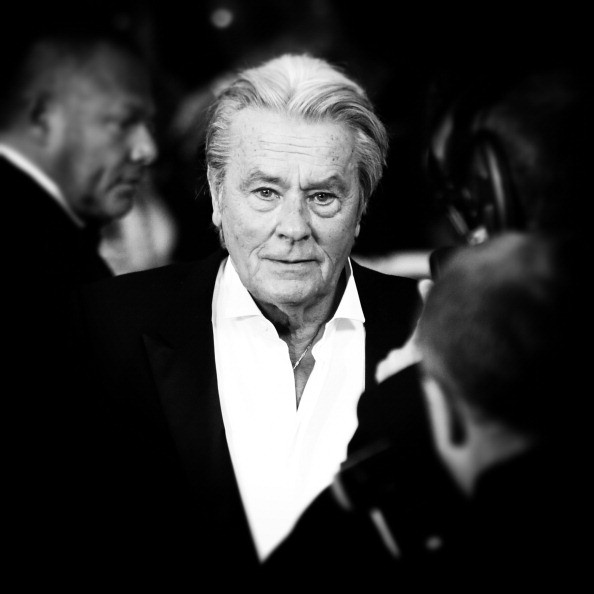 Caption:CANNES, FRANCE - MAY 25: (EDITORS NOTE: This image was processed using digital filters) An alternative view on Actor Alain Delon at the 'Only Lovers Left Alive' premiere during The 66th Annual Cannes Film Festival at the Palais des Festivals on May 25, 2013 in Cannes, France. (Photo by Vittorio Zunino Celotto/Getty Images)
