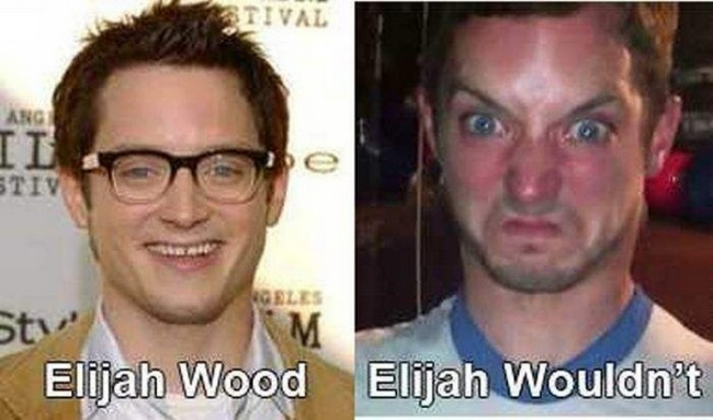 Elijah Wood vs Elijah Wouldn't