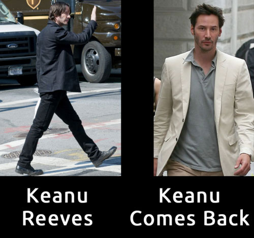 Keanu Reeves vs Keanu Coms Back