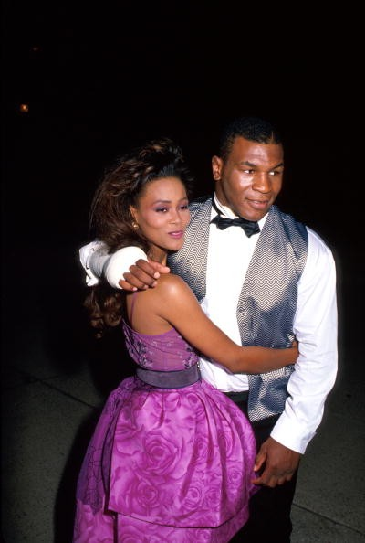 Actress Robin Givens and husband, professional boxer Mike Tyson.