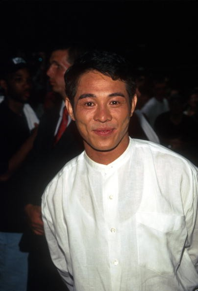 Actor Jet Li arrives at the premiere of 'Operation Condor' in New York City, July 15, 1997.