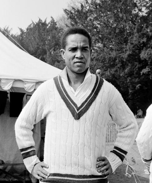 West Indian cricketer, Garfield Sobers, at Arundel 27th April 1963.