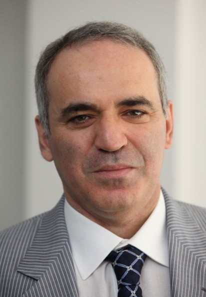 Garry Kasparov poses for a photo after a press conference at Hotel Bloom on June 8, 2011 in Brussels, Belgium.