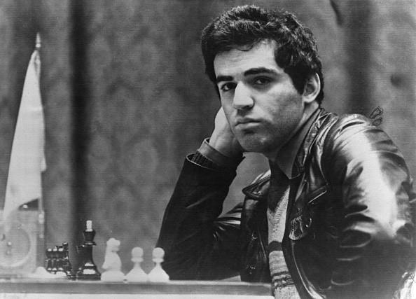 Garri Kasparow *13.04.1963- Schachspieler, UdSSR - Portrait - 1985