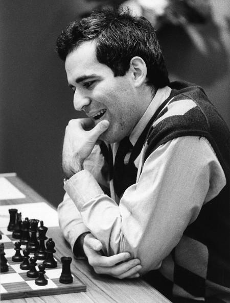 Garri Kasparow, *13.04.1963-, Schachspieler, Russland, Portrait beim Schachturnier in Dortmund, - 1992