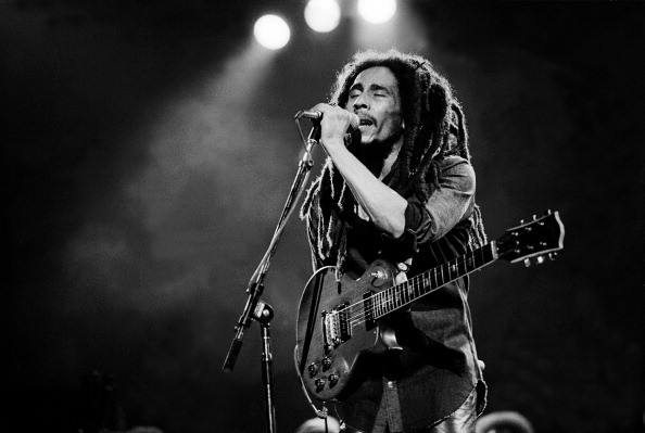 Musician Bob Marley performs onstage at the Auditorium Theater, Chicago, Illinois, May 27, 1978.