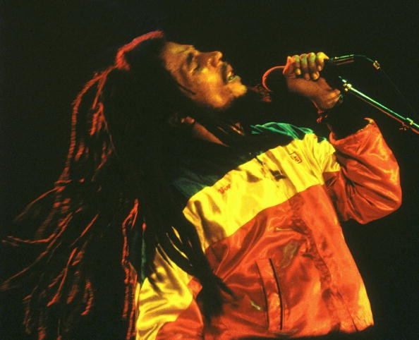 Photo of Bob MARLEY, Bob Marley performing live on stage