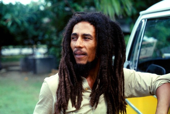 Bob Marley (1945 - 1981) in Montego Bay, Jamaica, in 1979, prior to his appearance at the Reggae Sunsplash festival.