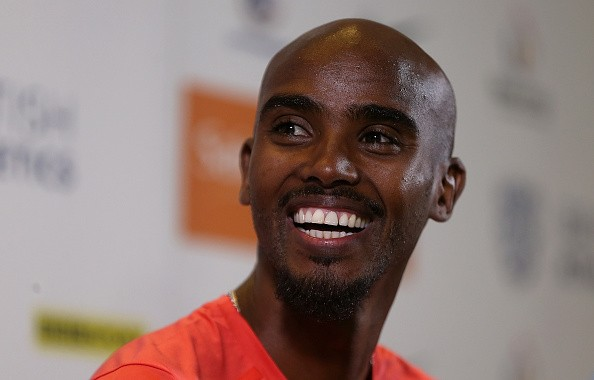 Mo Farah of Great Britain speaks during an Sainsbury's Birmingham Grand Prix - International Athletes Press Conference at The Hyatt Hotel on June 6, 2015 in Birmingham, England.