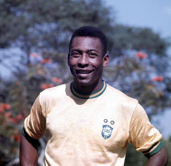 Football, Brazilian legend Pele, one of the stars of the victorious Brazil team of the 1970 World Cup Finals in Mexico
