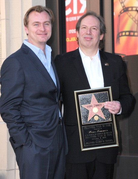 Director Christopher Nolan and composer Hans Zimmer attend Zimmer's Hollywood Walk of Fame star ceremony on December 8, 2010 in Hollywood, California.