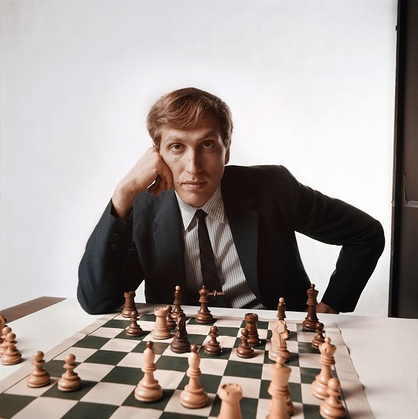 Chess master Bobby Fischer poses for a portrait in 1971 in New York City, New York.