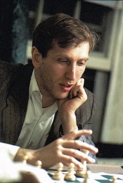 Closeup of Bobby Fischer in action, 10/5/1971