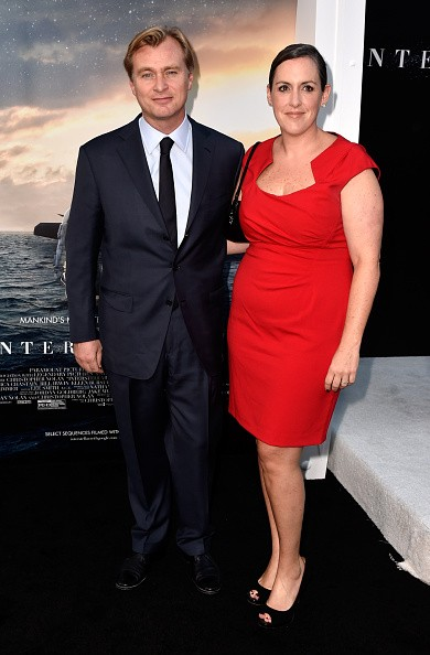 Director/writer/producer Christopher Nolan (L) and producer Emma Thomas attends the 'Interstellar' Los Angeles premiere at TCL Chinese Theatre IMAX on October 26, 2014 in Hollywood, California.