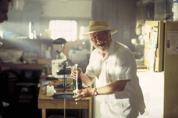 English actor Richard Attenborough as entrepreneur John Hammond in a scene from the film 'Jurassic Park', 1993.