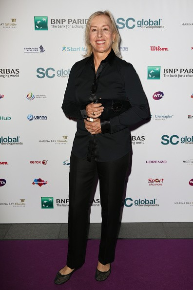 Martina Navratilova attends Singapore Tennis Evening during BNP Paribas WTA Finals at Marina Bay Sands on October 30, 2015 in Singapore.