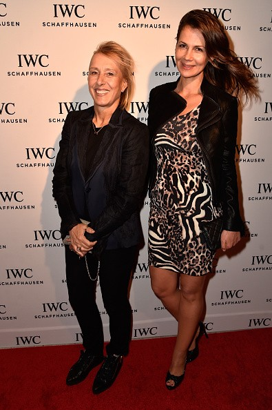 Tennis player Martina Navratilova and Julia Lemigova attend IWC Schaffhausen celebrates 'Timeless Portofino' Gala Event during Art Basel Miami Beach to mark the Launch of the new Portofino Midsize Watch Collection at The W Hotel South Beach on December 3, 2014 in Miami, Florida.