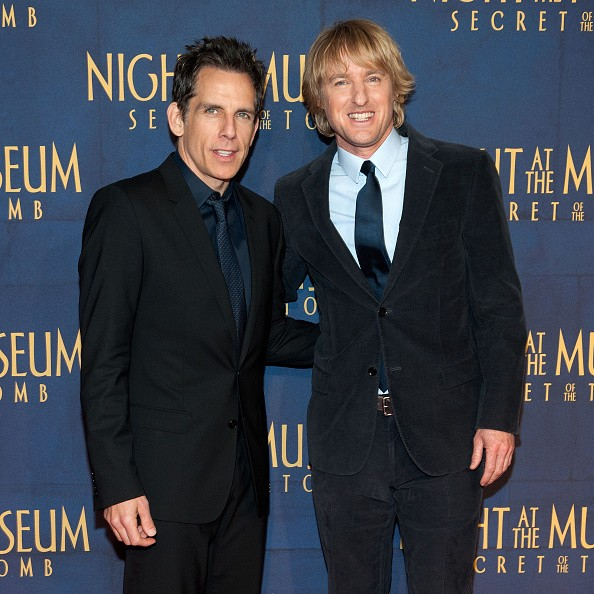 Ben Stiller (L) and Owen Wilson attend the 'Night At The Museum: Secret Of The Tomb' New York Premiere at the Ziegfeld Theater on December 11, 2014 in New York City.
