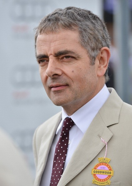Rowan Atkinson attends Glorious Goodwood races at Goodwood on August 2, 2012 in Chichester, England.