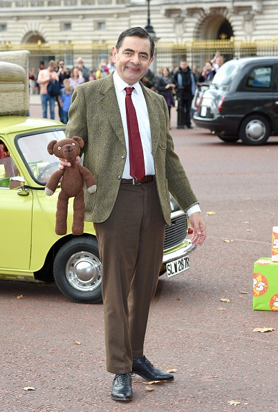 Rowan Atkinson as Mr Bean celebrates 25 years at Buckingham Palace on September 4, 2015 in London, England.