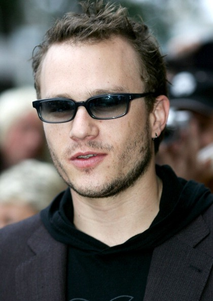 Heath Ledger shortly before being squirted by photographers with water pistols during the red carpet walk at the Sydney premiere of Brokeback Mountain at Cinema Paris.