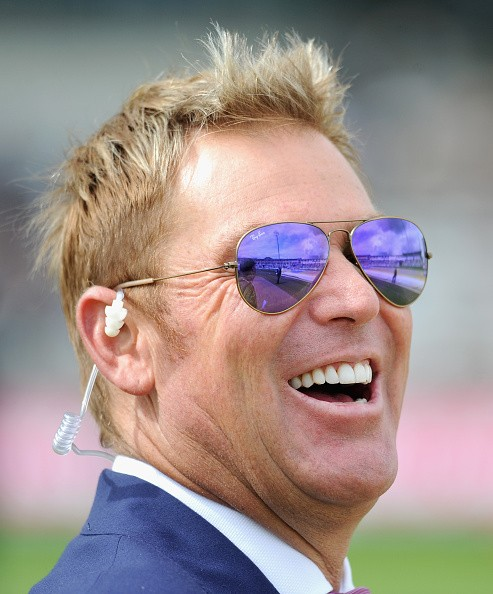 Former Australian cricketer Shane Warne during day one of the 3rd Investec Ashes Test match between England and Australia at Edgbaston on July 29, 2015 in Birmingham, United Kingdom.