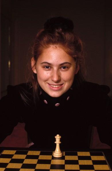 Judit Polgar in 'Immopar Trophy' in Paris, France on November 12, 1992.