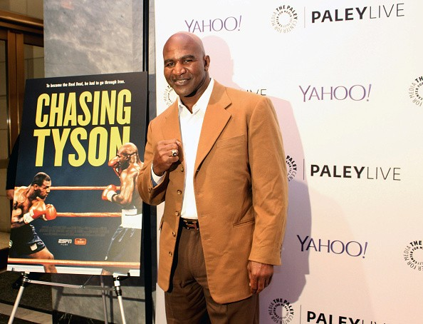 Evander Holyfield attends the 'Chasing Tyson' New York Premiere at The Paley Center for Media on October 28, 2015 in New York City.