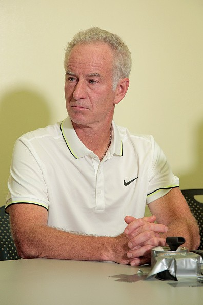 John McEnroe during the Johnny Mac Tennis Project 2015 Sportime press conference at Randall's Island on August 26, 2015 in New York City.