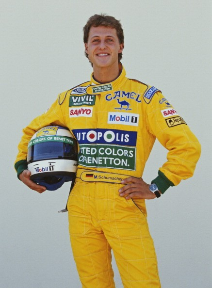Michael Schumacher of Germany and driver of the #19 Camel Benetton Ford Benetton B191B Ford HB V8 poses for a portrait during practice for the Yellow Pages South African Grand Prix on 28th February 1992 at the Kyalami Grand Prix Circuit in Kyalami, South Africa.