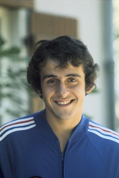 Portrait of French football player Michel Platini circa 1970.