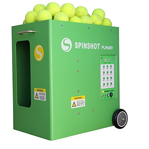 (VIDEO Review) Spinshot-Player Tennis Ball Machine with Phone Remote Supported