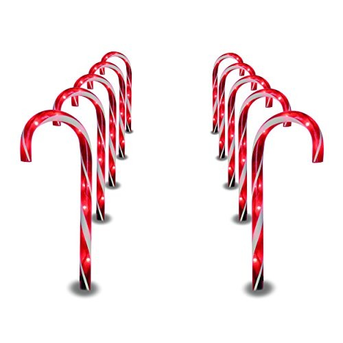 decorative driveway markers.htm video review  prextex christmas candy cane pathway markers set of  prextex christmas candy cane pathway