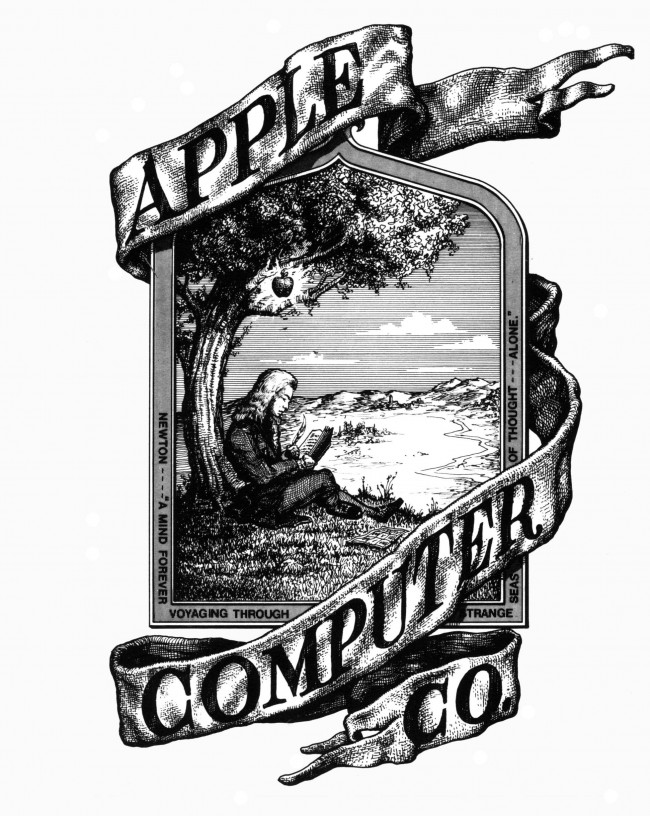 The first Apple logo (Source: Wikipedia)